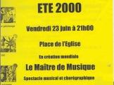 Le Maître de Musique (Juin 2000)