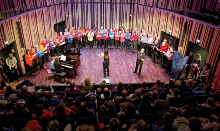 Auditorium, la chorale chante