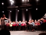 "Salle Colombier, la chorale chante ""Wonderful Town"""
