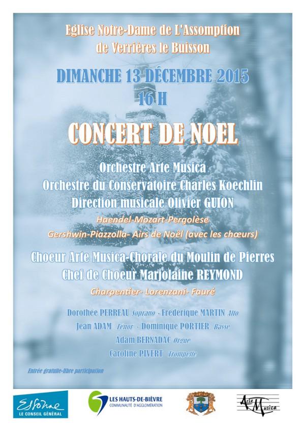 L'affiche du concert de Noël 2015
