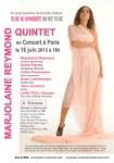 MARJOLAINE REYMOND QUINTET en concert le 16 juin