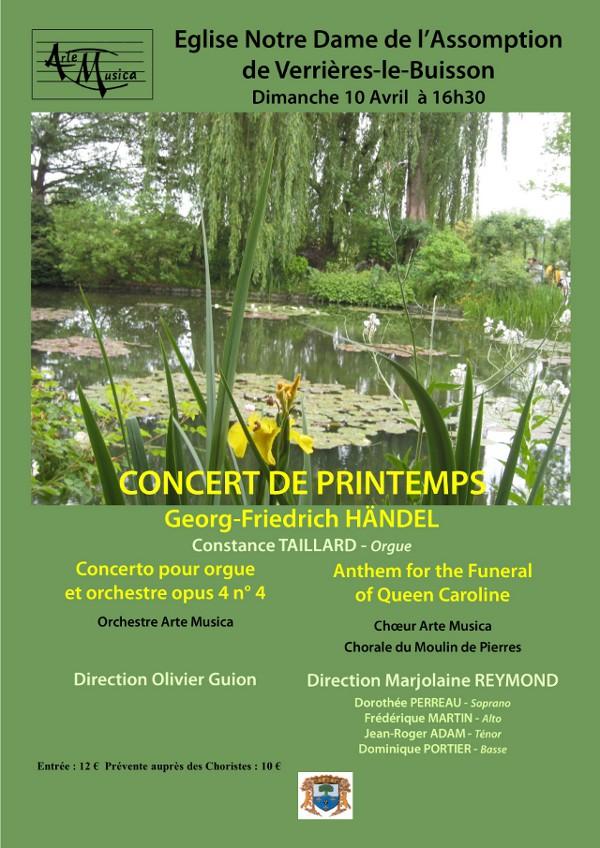 Affiche Concert Printemps - Avril 2016